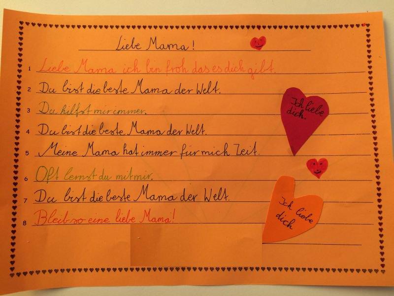 Gedichte zum muttertag grundschule mering amb rieustra e for Muttertag grundschule