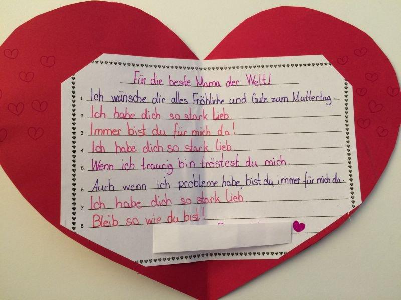 Gedichte Zum Muttertag Grundschule Mering Ambérieustraße