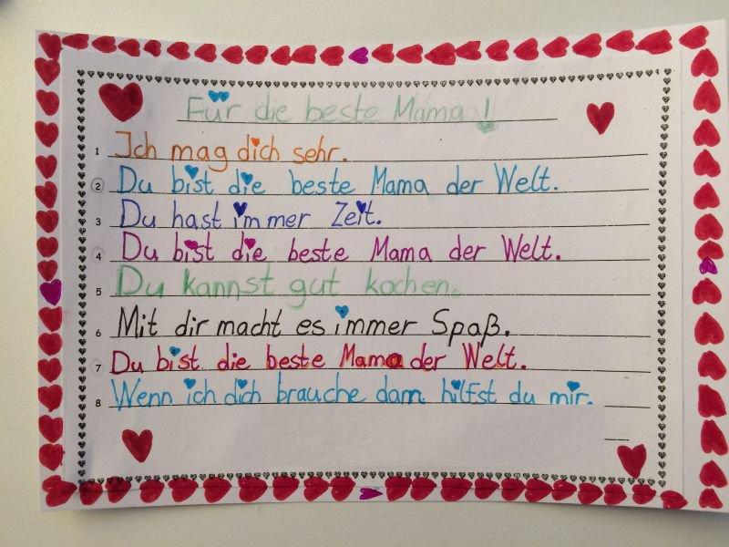 Gedichte zum muttertag grundschule mering amb rieustra e - Muttertag grundschule ...