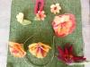Filzen von Frühlingblumen