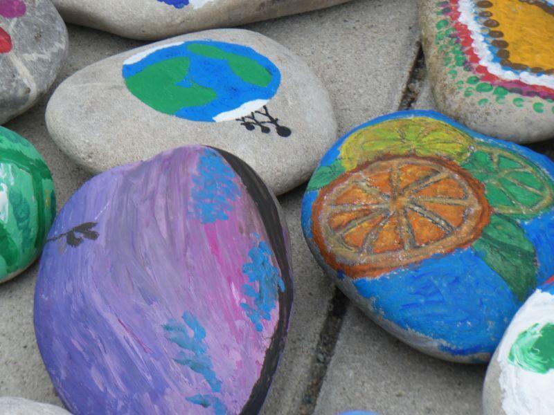 Steinschlange Hoffnung und Miteinander