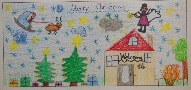 Weihnachtskarten Mit Gutem Zweck.Weihnachtskarten Für Einen Guten Zweck Grundschule Mering